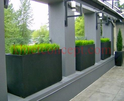 Chậu đá mài chữ nhật giá rẻ thích hợp trồng cây trang trí nhà cửa, văn phòng, sân thượng,..