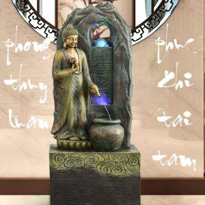 Thác Nước Phong Thủy Tượng Phật Đứng